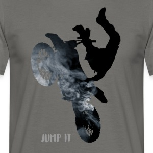 bike-jump stunt Cross Enduro motorcycle jump black - Men's T-Shirt