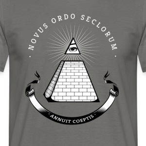 illuminati pyramid enlightenment secret cool nerd b - Men's T-Shirt