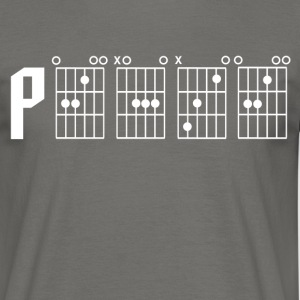 Peace through the power of a guitar chord - Men's T-Shirt