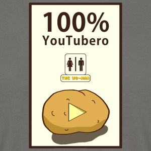 100% YouTubero WC-Man - Herre-T-shirt