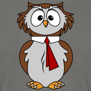 Funny owl in comic style necktie Chic - Men's T-Shirt
