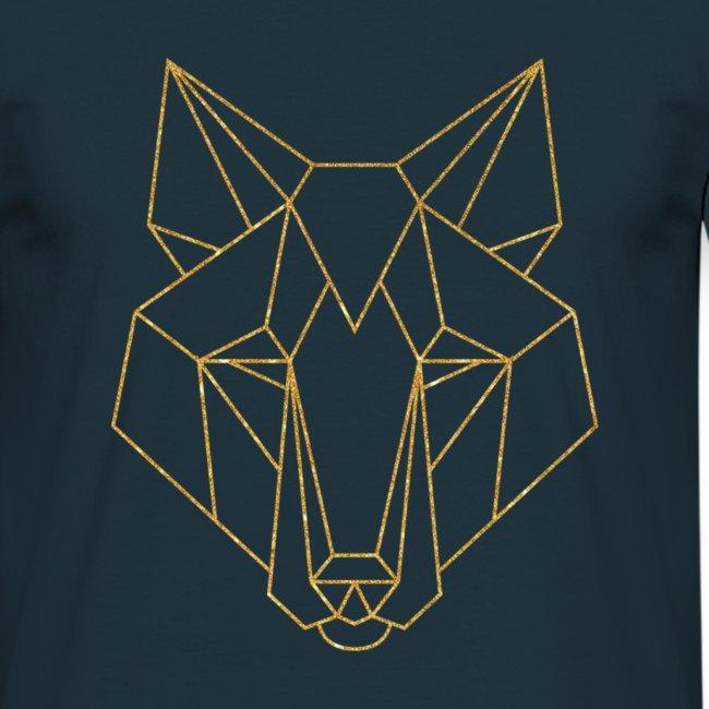 MonkeyShy logo fox couleur or paillettes
