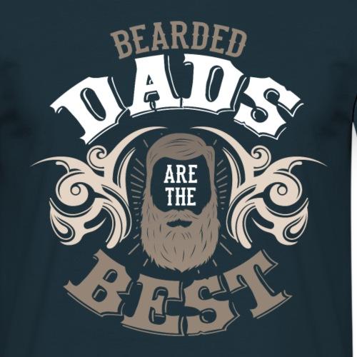 Bearded Dads are the best Papa Bartträger Spruch - Männer T-Shirt