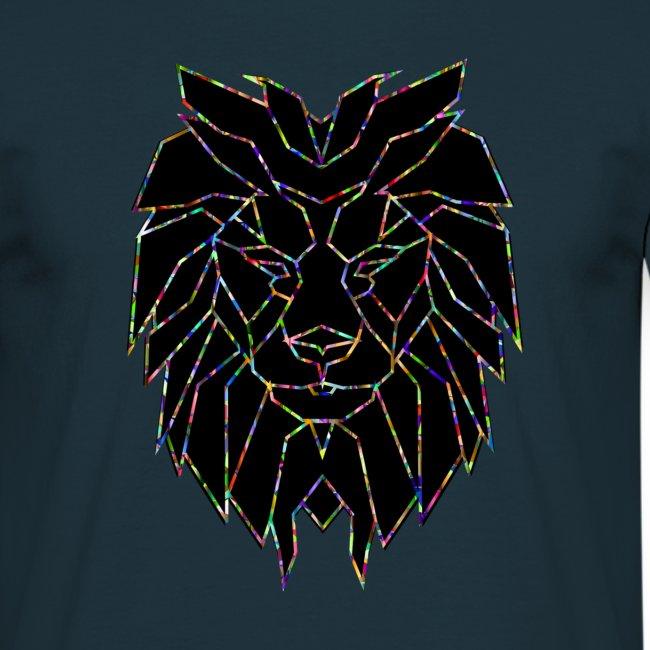 Design lion symétrique couleurs