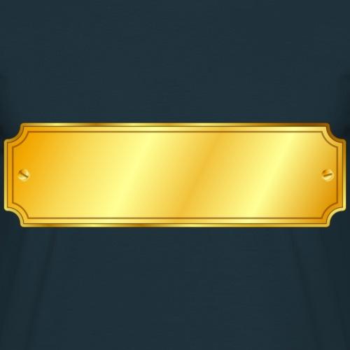 Goldenes Schild - Männer T-Shirt