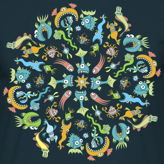 Marine Creatures Eat by Creating a Mandala