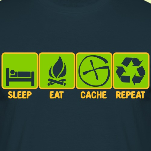 Sleep Eat Cache+ - Männer T-Shirt