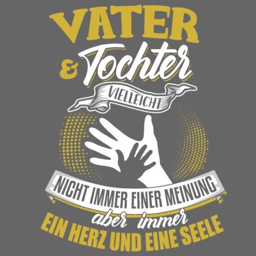 Vater und Tochter ein Herz und eine Seele - Männer T-Shirt