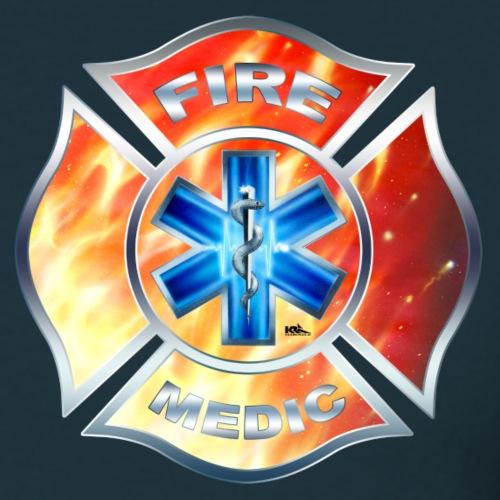 FIRE MEDIC Wappen US - Männer T-Shirt