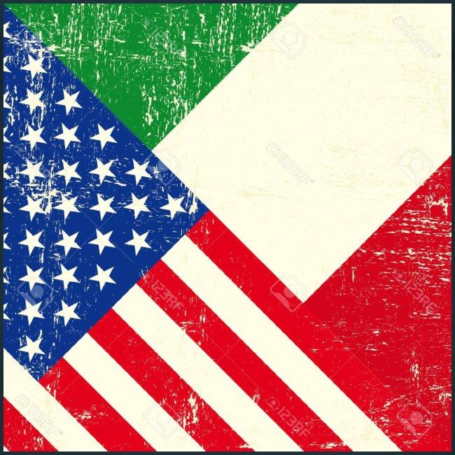 18147081 USA and Italian grunge Flag Stock Vector