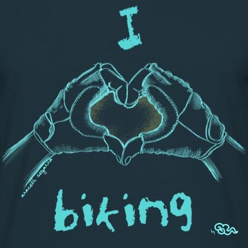 I LOVE BIKING - Camiseta hombre