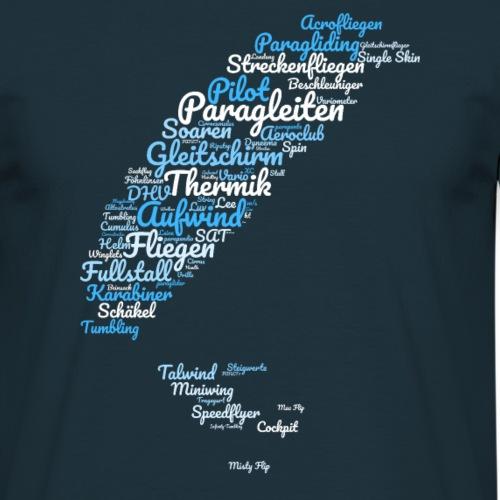 Paragleiten Wortwolke wordcloud paragliding - Männer T-Shirt