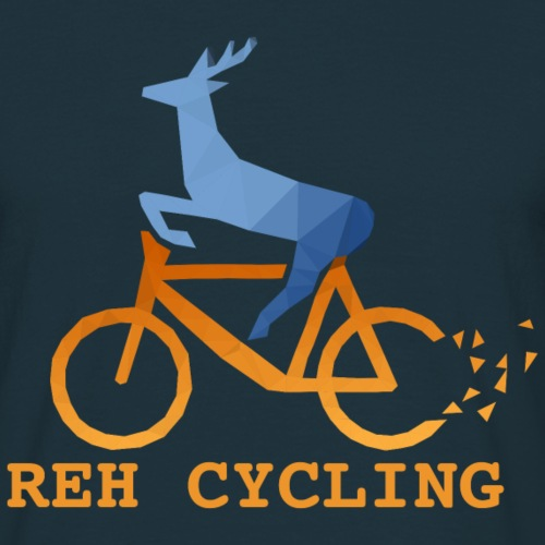 Reh Cycling Polygon - Männer T-Shirt