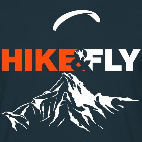 Hike Fly Vektor - Männer T-Shirt
