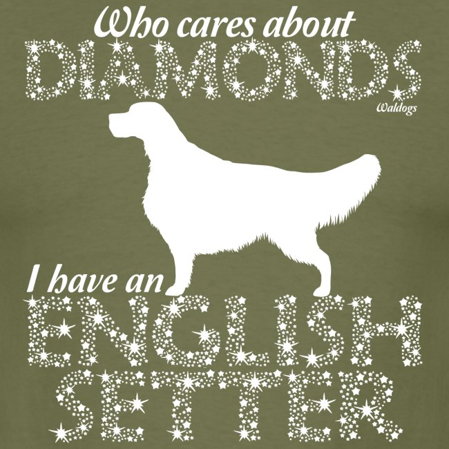 English Setter Diamonds