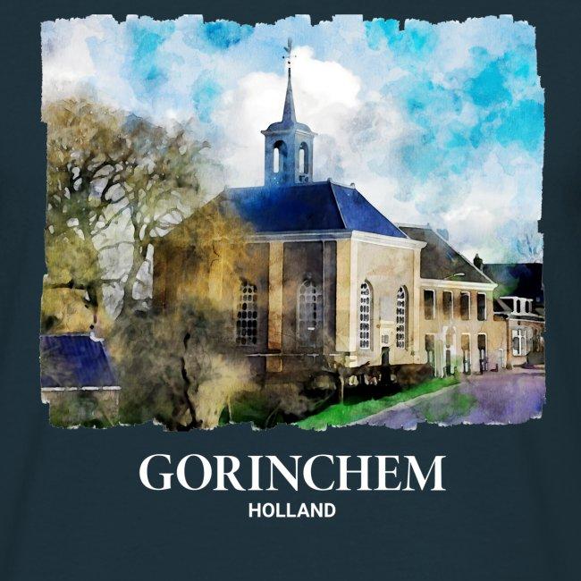 Watercolor painting Dalemse kerk Gorinchem