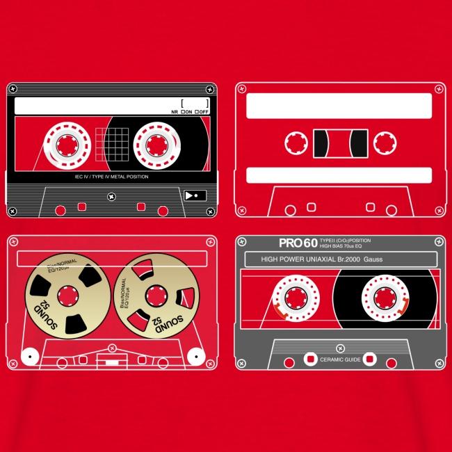 4 cassettes