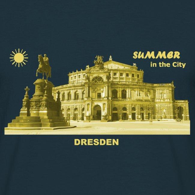 Summer Dresden Semperoper Sachsen Denkmal