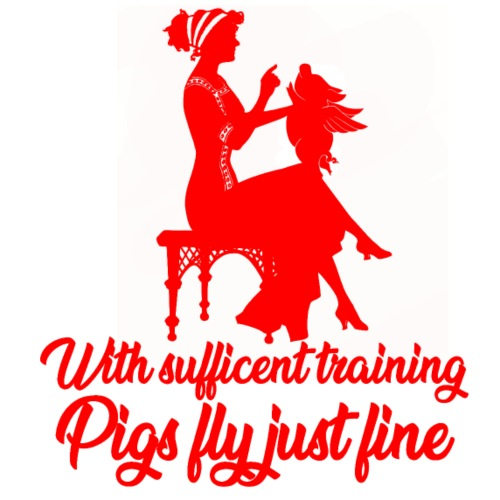 i maiali di addestramento volano il fumetto rosso di progettazione di arte - Maglietta da uomo