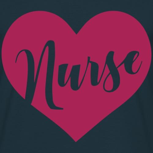 NURSE heart shape negative - Männer T-Shirt