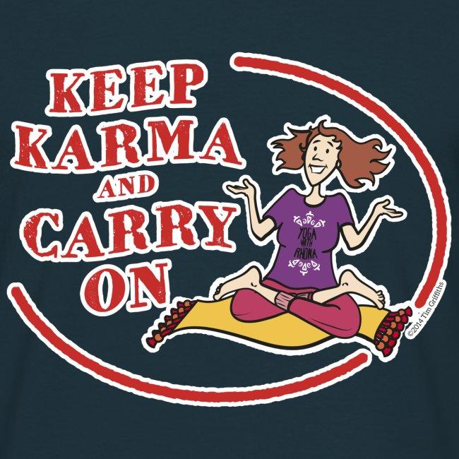 Keep Karma and Carry On (Dark Blue)