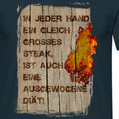 Die Steak Diät - Männer T-Shirt