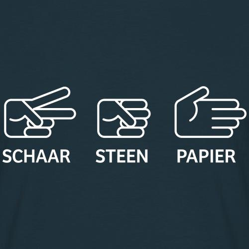 Schaar Steen Papier - Mannen T-shirt