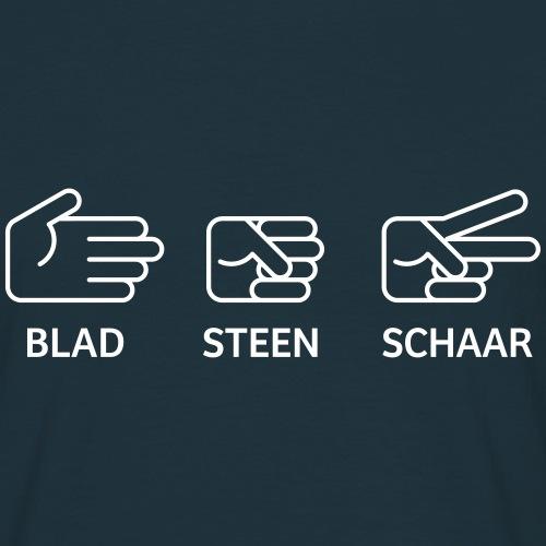 Blad Steen Schaar - Mannen T-shirt