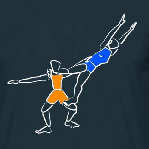 akro weiss - Männer T-Shirt
