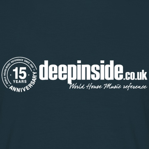 15 years anniversary logo white - Men's T-Shirt