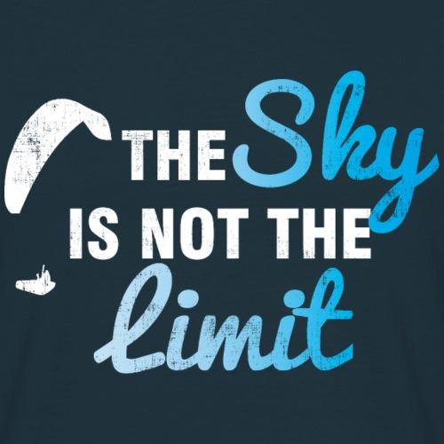 The Sky is the Limit Paragaliding - Männer T-Shirt