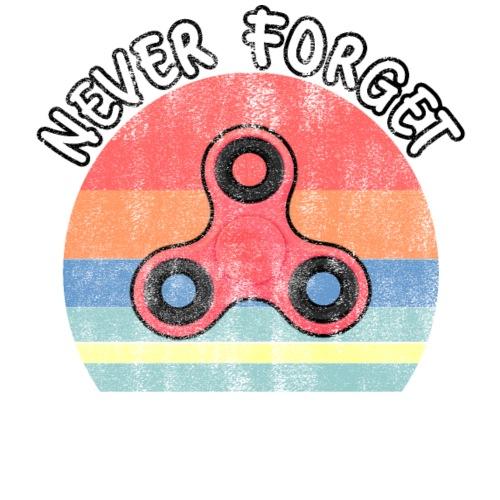Glöm Aldrig Fidget Spinners - Vintage Retro Design