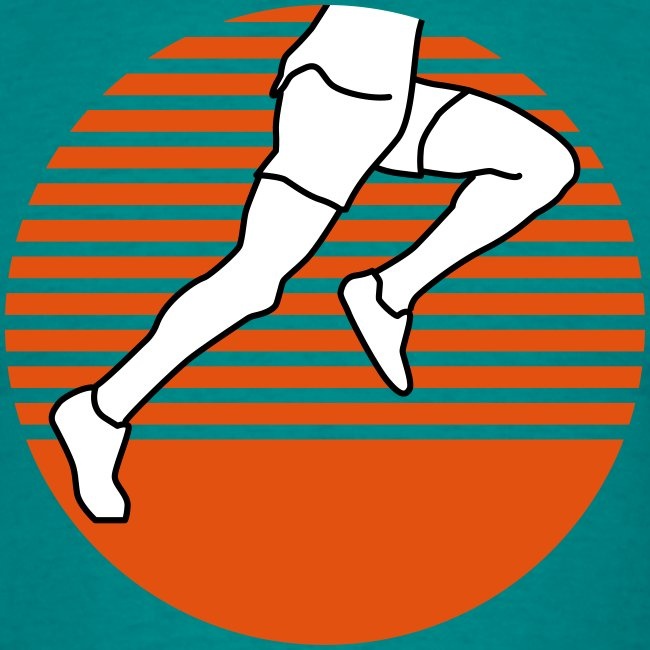 Läufer seitlich dreifärbig runner running