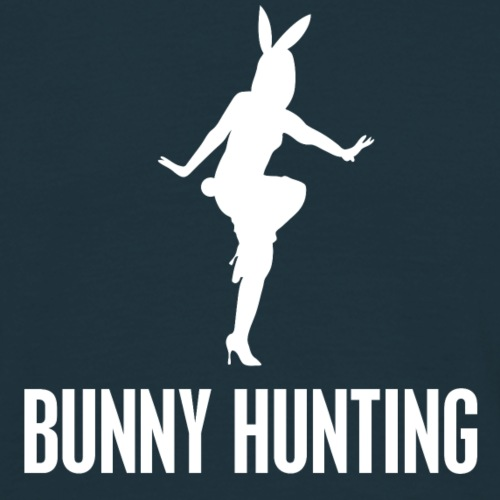 BUNNY HUNTING WHITE - Herre-T-shirt