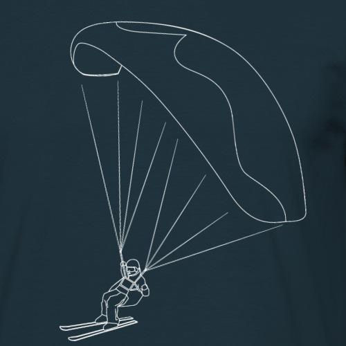 Speedflying Speedriding Linien Skizze - Männer T-Shirt