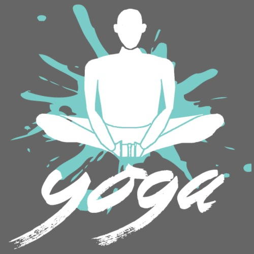 yoga blu yoga yogi namaste pace amore arte hippie - Maglietta da uomo