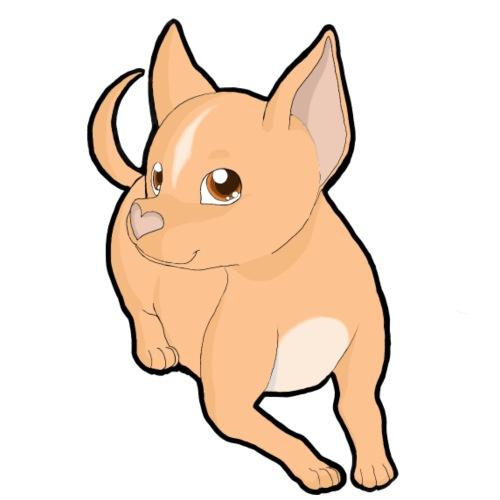 Chihuahua a pelo corto peach - Maglietta da uomo