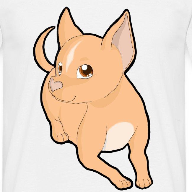 Chihuahua a pelo corto peach