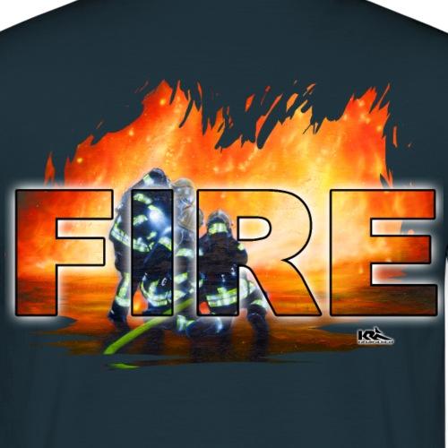 3 FW Männer Shirt FIRE.png - Männer T-Shirt