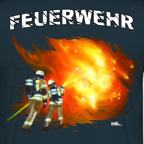 FW Männer D FEUERWEHR.png - Männer T-Shirt