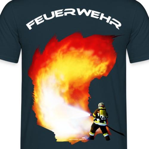 Inferno Feuerwehr mit weißem Schriftzug - Männer T-Shirt