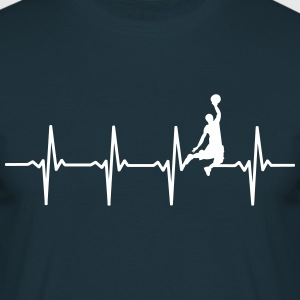 Basketball - Heartbeat Scene - Men's T-Shirt