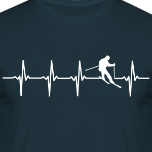 Skiing - Heartbeat Scene - Men's T-Shirt