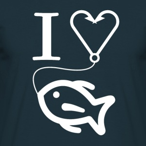 I love fishing !! - Men's T-Shirt
