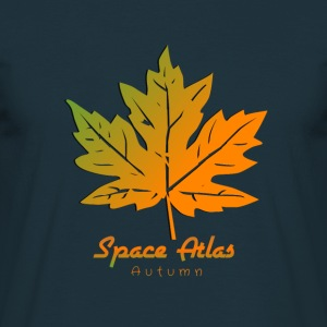 Space Atlas T-shirt Autumn Leaves - Men's T-Shirt