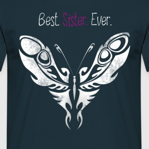 butterfly_sister best Butterfly Big Sister - Men's T-Shirt