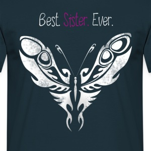 butterfly_sister bedste Butterfly Big Sister - Herre-T-shirt