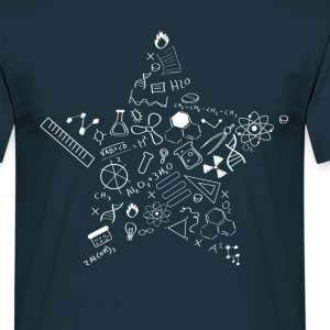 nerd star pi Physics Math Symbols Icon fu - Men's T-Shirt