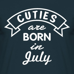 Gift of July Bursdag Cuties - T-skjorte for menn
