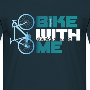 bike_with_me bicycle wheel bmx bike MTB blue team - Men's T-Shirt